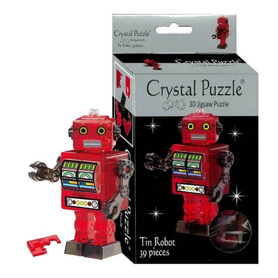 Tin Robot Red 3D Crystal Puzzle