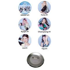 ITZY Icy Pin Button Badge