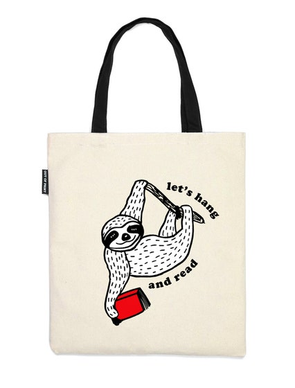 Let's Hang and Read Tote Bag