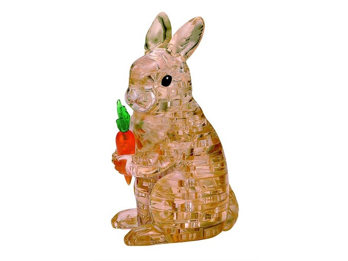 Rabbit Brown 3D Crystal Puzzle