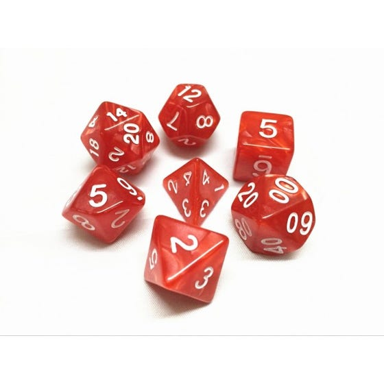 Pearl Poly Red /White (7)