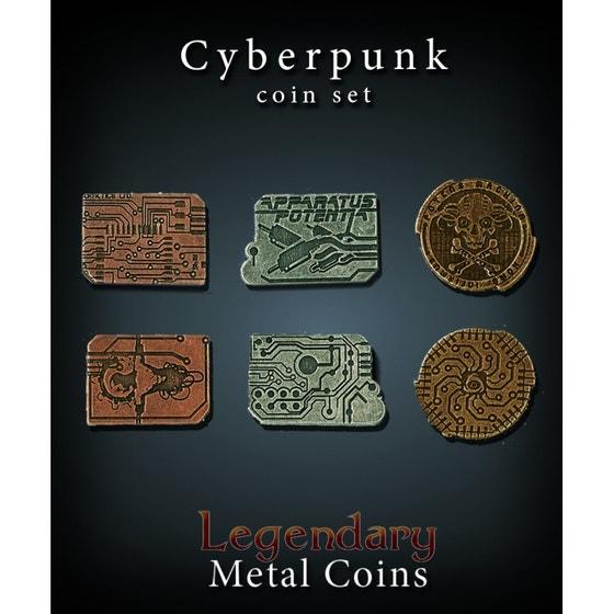 Cyberpunk Metal Coins Set (24)