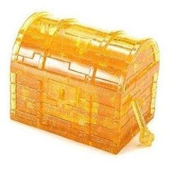 Treasure Chest Yellow 3D Crystal Puzzle