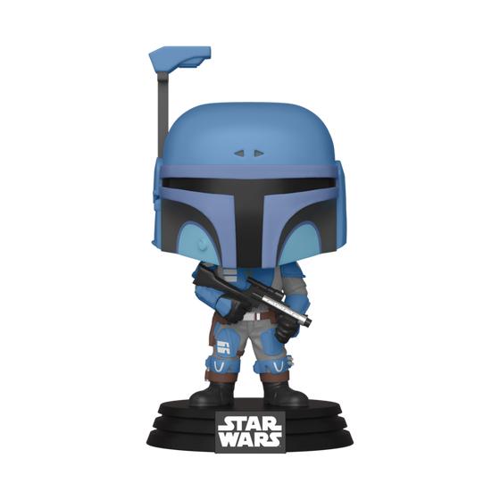 Flashback Blue Mandalorian POP! Star Wars Vinyl Figure
