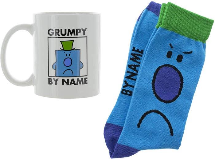 Grumpy by Name Mug and Socks