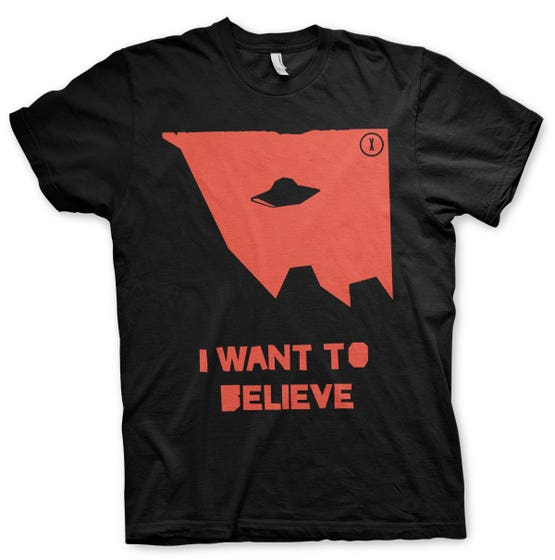I Wan't to Believe T-Shirt (M)