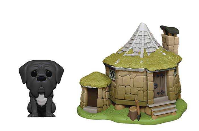 Pop Town Harry Potter Hagrids Hut W/fang Vin Fig