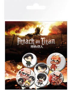 Attack on Titan Button Set