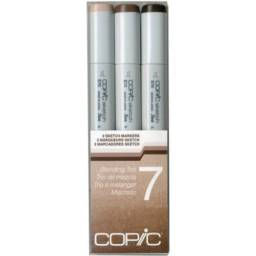 Copic Sketch Markers Blending Trio 7 Umber (3)