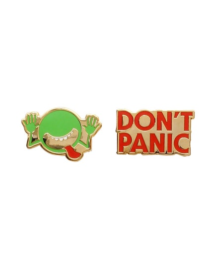 Hitchhiker's Guide to the Galaxy Enamel Pin Set (2)
