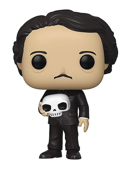 Pop Icons Edgar Allan Poe W/ Skull Vin Fig
