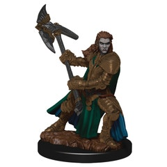 D&d Icons Realm Premium Painted Fig Half-orc Fighter Female