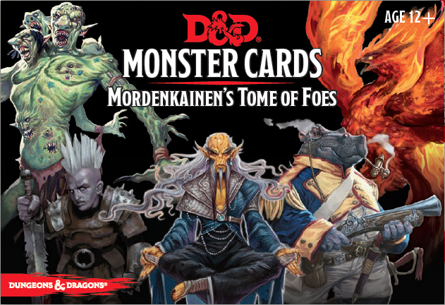 Dungeons & Dragons Spellbook Cards: Mordenkainen's Tome of Foes (Monster Cards, D&D Accessory)