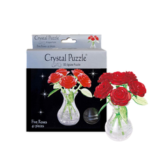 Six Roses 3D Crystal Puzzle