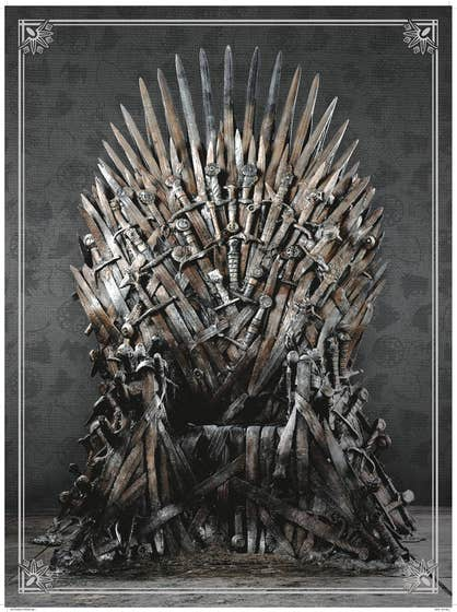 Got 1000 Pc Deluxe Edition Puzzle Iron Throne