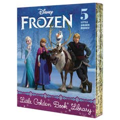 Frozen Little Golden Book Library (Disney Frozen): Frozen; A New Reindeer Friend; Olaf's Perfect Day; The Best Birthday Ever; Olaf Waits for Spring