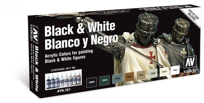Black & White Paint Set