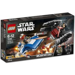 A-Wing mot TIE Silencer Microfighters
