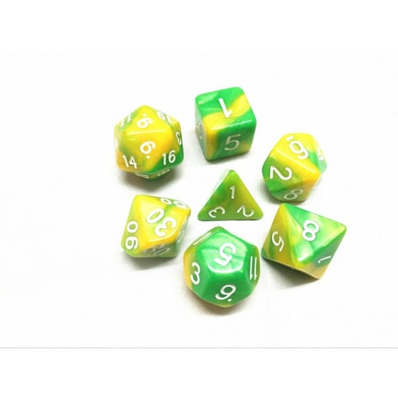 Blend Poly Green, Yellow /White (7)
