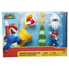 Nintendo 2-1/2in Underwater Diorama Set Cs