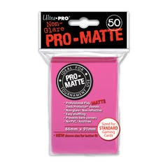 Pro-Matte Bright Pink Deck Protector Sleeves (50)