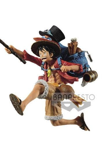 One Piece Three Brothers Monkey D Luffy Fig
