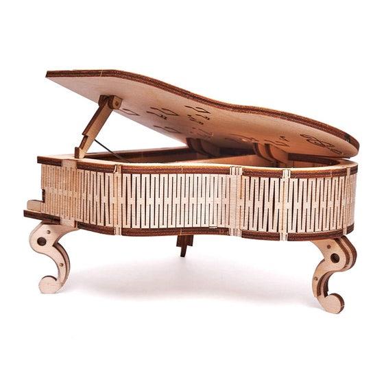 Grand Piano Music Box 3D Wood Model