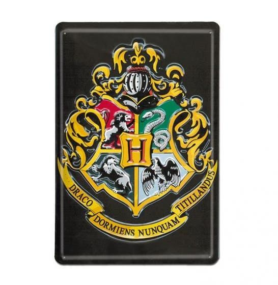 Hogwarts 3D Tin Sign 20x30 cm