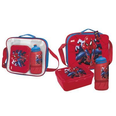 Spider-Man Lunch Bag with Lunch Box and Bottle