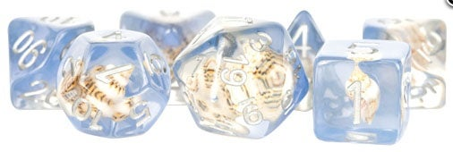 Sea Conch Poly Clear /Silver (7)