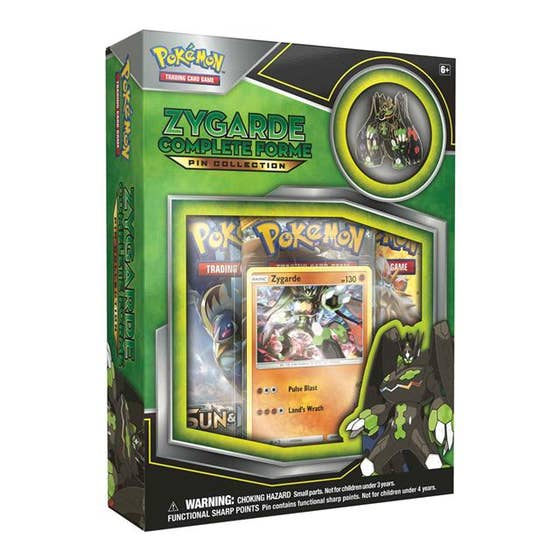 Zygarde Complete Forme Pin Collection