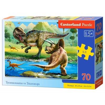 Tyrannosaur vs. Triceratops Puzzle (70)