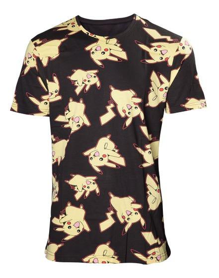 Pikachu All Over Print T-Shirt (L)