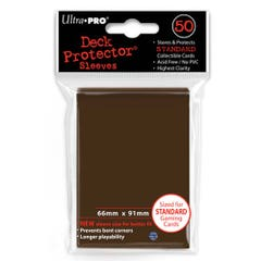 Color Brown Standard Size Deck Protector Sleeves (50)
