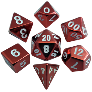 Metal Poly Red /White (7)