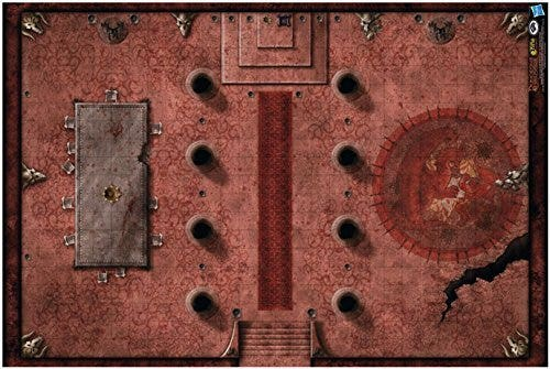 Red Hall of Vor Rukoth Game Mat