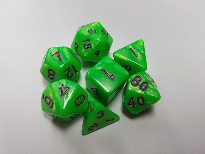 Pearl Poly Light Green /Purple (7)