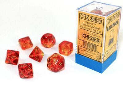 Gemini Poly Translucent Red, Yellow /Gold (7)