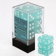 Frosted 16mm D6 Teal /White (12)