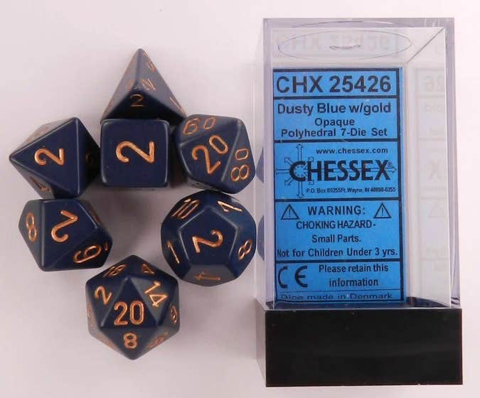 Opaque Poly Dusty Blue /Gold (7)