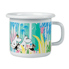 Moomins in the Jungle Enamel Mug 2,5 dl