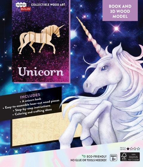 Unicorn Book and 3D Wood Model