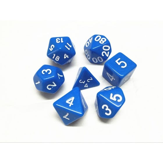 Opaque Poly Blue /White (7)