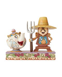 Disney Traditions Cogsworth And Mrs Potts Figure