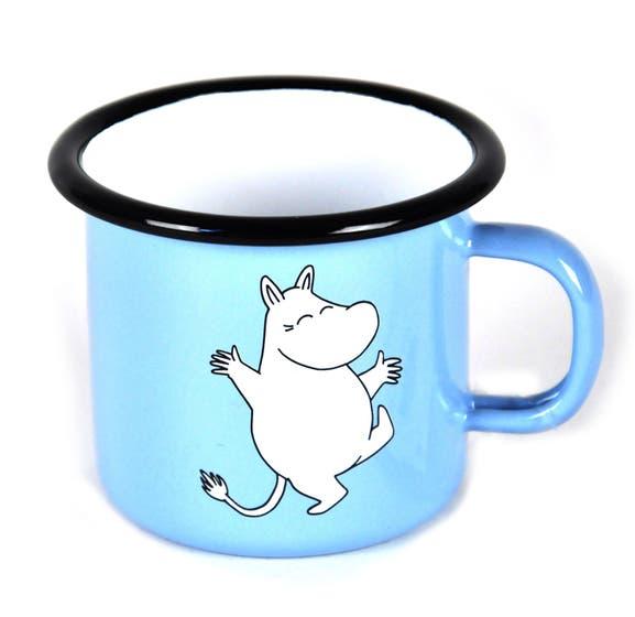 Moomintroll Light Blue Enamel Mug 2,5 dl