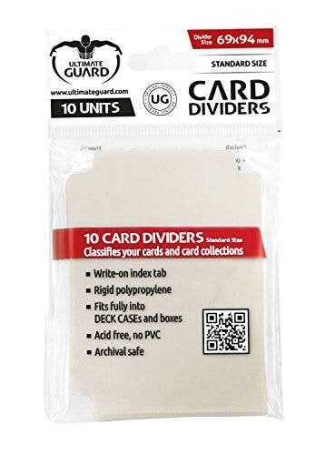 Standard Size Sand Card Dividers (10)
