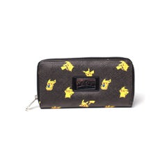 Pikachu Zipper Bifold Wallet