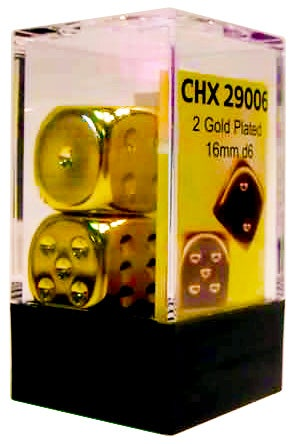 Gold Plated 16mm D6 (2)