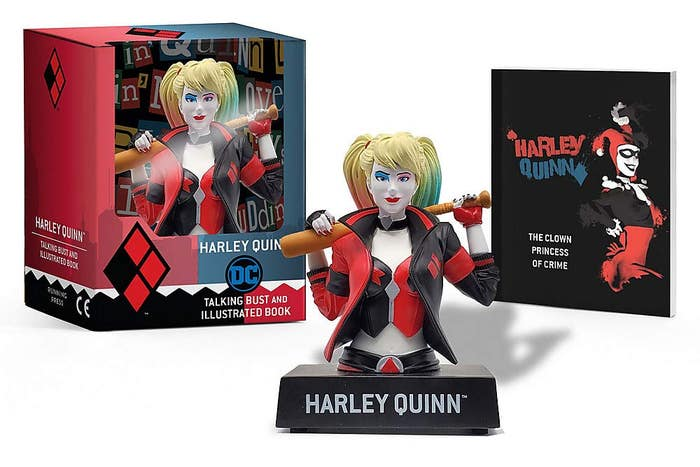 Harley Quinn Talking Figure and Illustrated Book