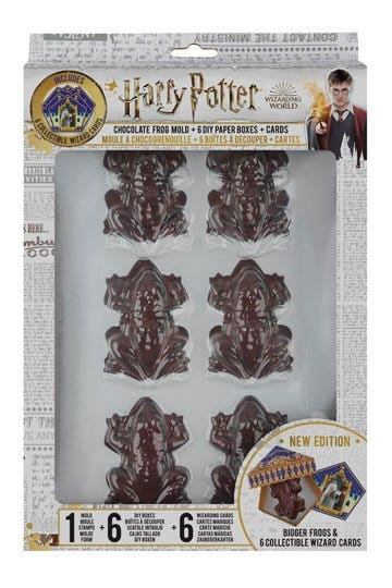 Chocolate Frog Mold + 6 Collector Cards